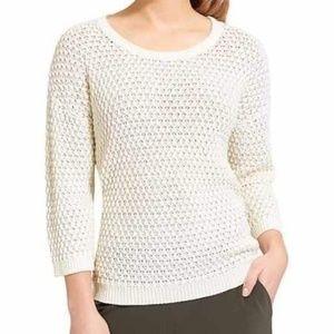 Athleta Seychelles Sweater Cream Open Weave